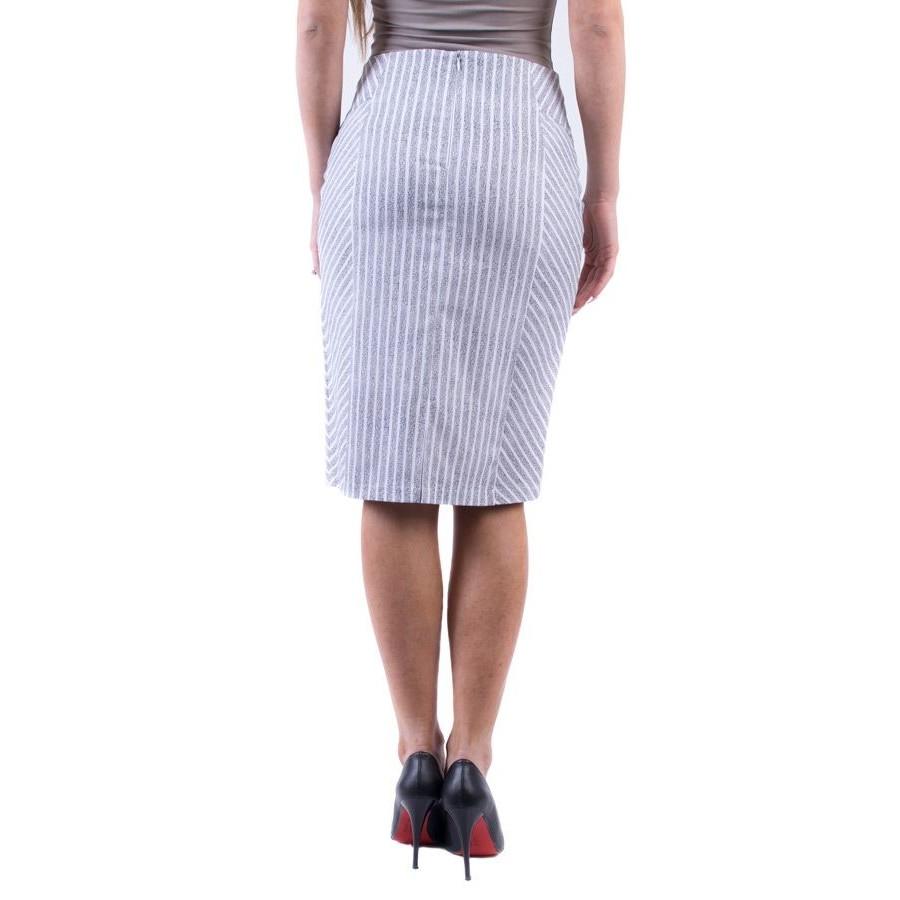 Раирана пола в бяло и сиви райета 16190 a от памук  на топ цена